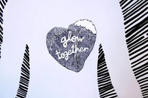 Glow Together mural by Diana Garcia