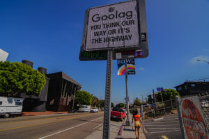 Google protest campaign in Venice Beach